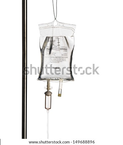 Hospital IV Drip isolated on white ストックフォト ©
