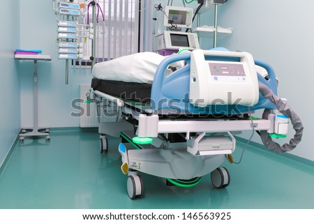 hospital room. the intensive care unit.