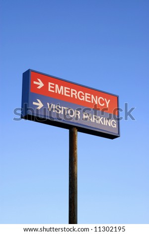 Hospital Sign directs visitors