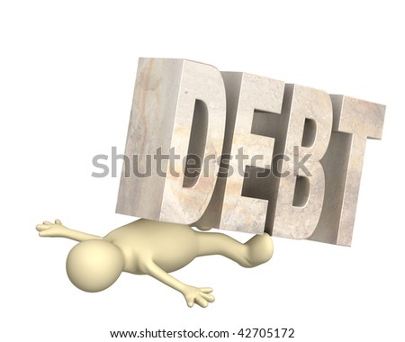Hostage of the debt - stock photo