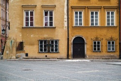Hostel at Warsaw's old town.