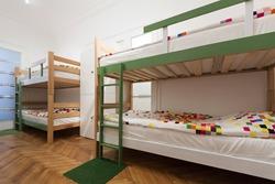 Hostel interior - bedroom