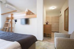 Hostel room interior