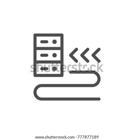 Hosting line icon isolated on white