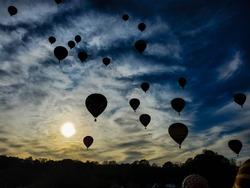hot air ballon festival amazing liftoff