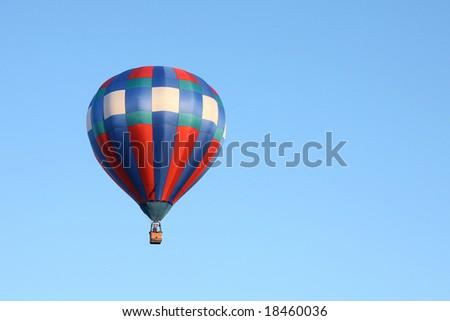 Hot Air Balloon Against Blue Sky