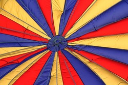 Hot air balloon fabric patterns with various colors and lines