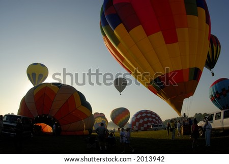 Hot air balloon festival 79. See more in my portfolio - stock photo