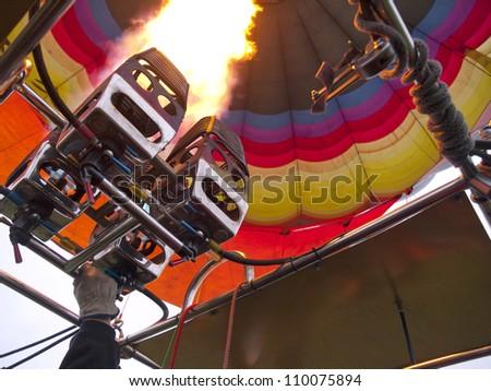 Hot air balloon fire burner
