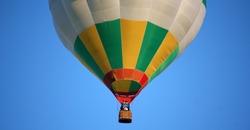 Hot air balloon gondola with the crew photo