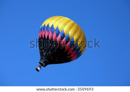 Hot air balloon in a gust of wind