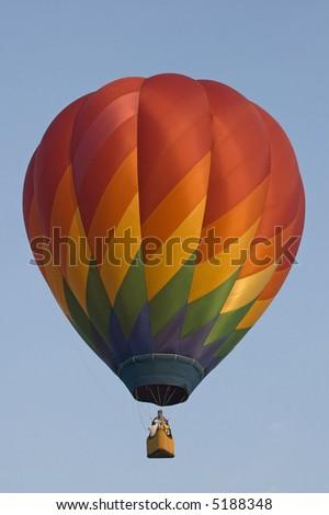 Hot air balloon in mid-air