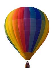 Hot Air Balloon isolated.