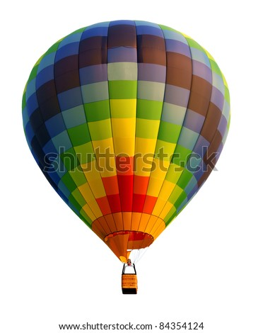 Hot air balloon, isolated against background
