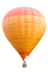 Hot air balloon, Isolated over white background with clipping path