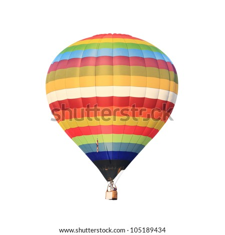 hot air balloon isolated whte. #105189434