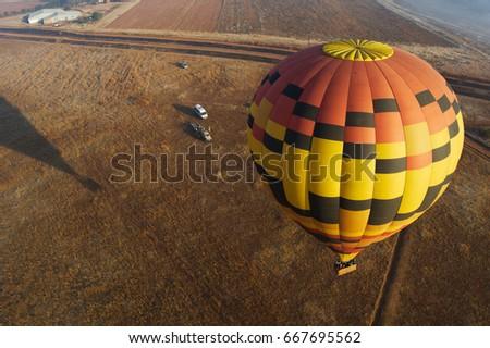 Hot Air Balloon launch, seen from above