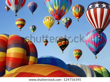 Hot Air Balloon Mass Ascension