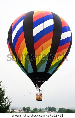 Hot air balloon over Lancaster County,Pennsylvania  - stock photo