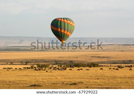 Hot Air Balloon Over the Masai Mara, Kenya