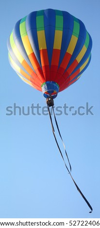 Hot Air Balloon With Streamers