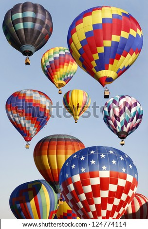 Hot air Balloons in Mass Ascension