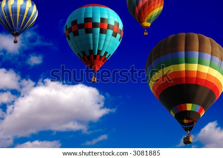 Hot Air Balloons racing in the sky