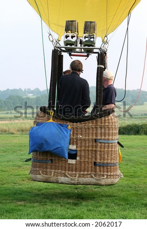 Hot air baloon and basket, ballooning flying