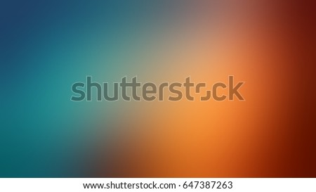 Hot and cold abstract background. Orange and blue deep texture. Contrast gradient. Dark green blue matte background. Dark amber abstract background.