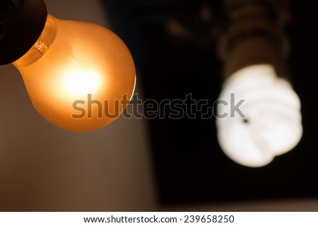 Hot and cold light bulb.