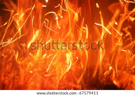 Hot blazing fire abstract background