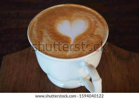 Hot Cappuccino Coffee in the Morning