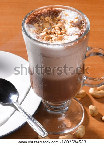 hot cappuccino is one famous coffee