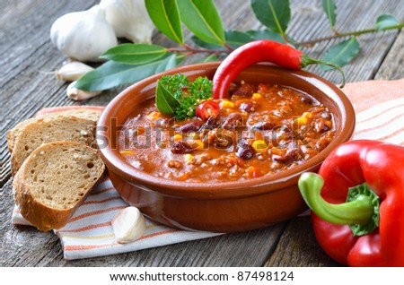 Hot chili con carne