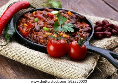 Shutterstock Hot chili con carne - mexican food tasty and spicy