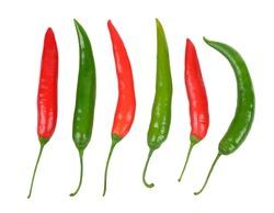 hot chili on white background