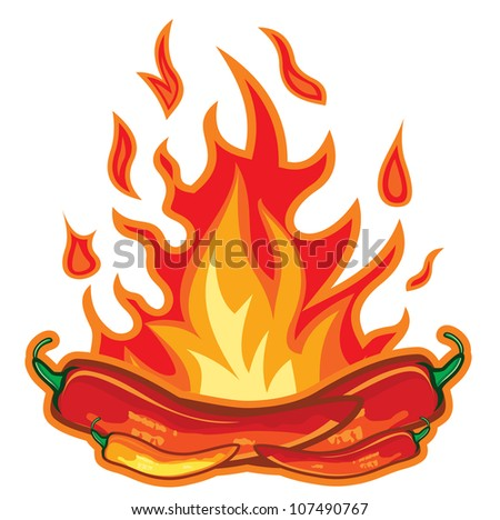 Hot chili pepper design