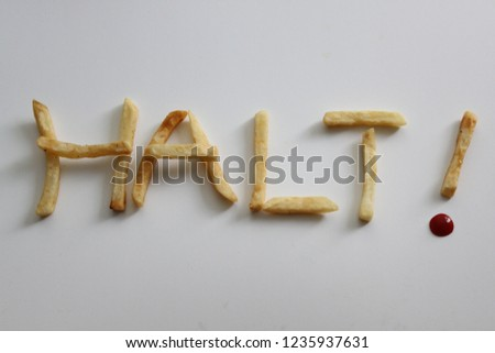 Hot chips in the word HALT