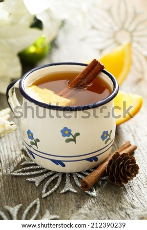 Hot cider - stock photo