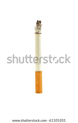 hot cigarette isolated on white