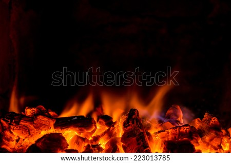 Hot coals in the fire #223013785