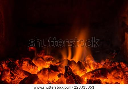 Hot coals in the fire #223013851