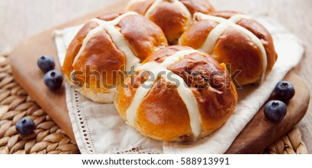 Hot Cross Bun #588913991