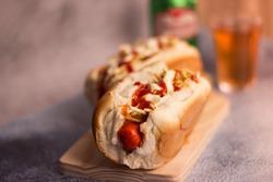 Hot Dog - Brazilian Style Hot Dog / Brazilian Food and Drink