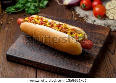 hot dog Danish Foto stock ©