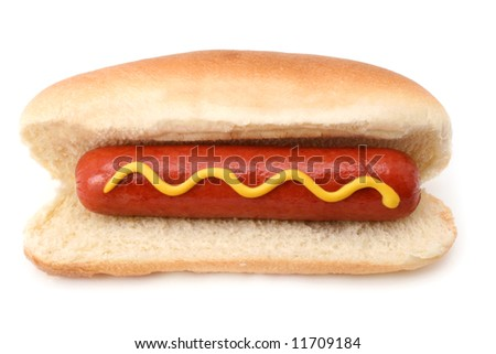 Hot Dog isolated on white