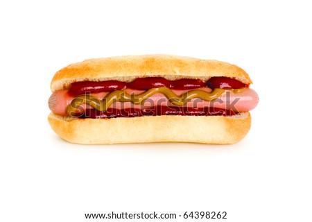hot dog isolated on white background