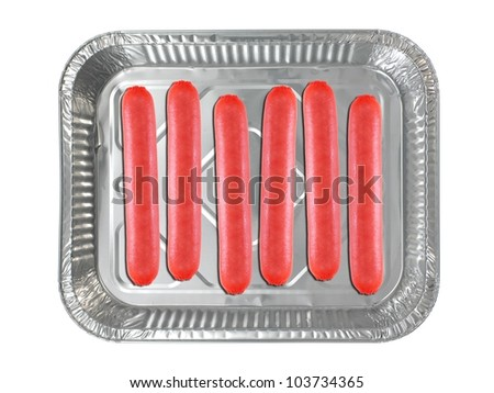 Hot dogs isolated against a white background