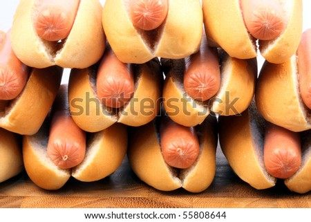 hot dogs  on a nice table setting rich in colors and flavors perfect for picnics