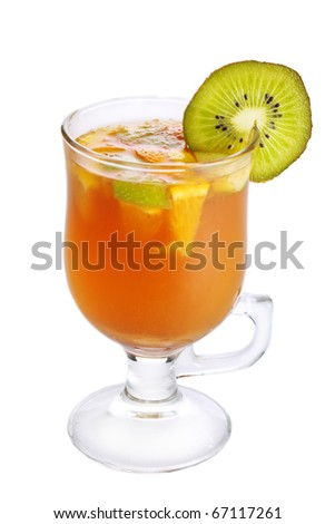 Hot drink grog isolated on white background